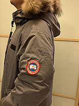 Серый короткий мужской зимний пуховик canada goose chilliwack bomber Канада Гус, фото 3