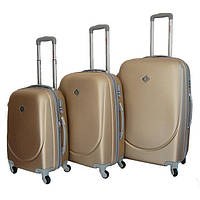 Набор чемоданов на колесах Bonro Smile Шампань 3 штуки