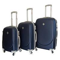Набор чемоданов на колесах Bonro Smile Темно-синий 3 штуки