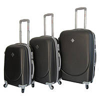 Набор чемоданов на колесах Bonro Smile Темно-серый 3 штуки