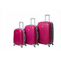 Набор чемоданов на колесах Bonro Smile Малиновый 3 штуки