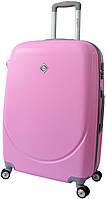 Дорожный чемодан на колесах Bonro Smile с двойными колесами Розовый Небольшой