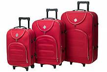 Набор чемоданов на колесах Bonro Lux Красный 3 штуки