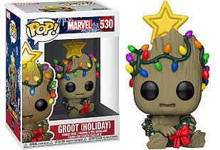 Фигурка Funko Pop Фанко Поп Marvel Holiday Groot Праздничный Марвел Грут 10 см MH G 530