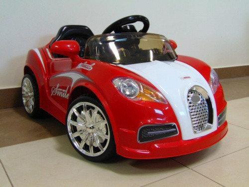 Дитячий електромобіль на акумуляторі CABRIO BU з пультом управління і музикою (MP3) Червоний