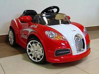 Дитячий електромобіль на акумуляторі CABRIO BU з пультом управління і музикою (MP3) Червоний, фото 1