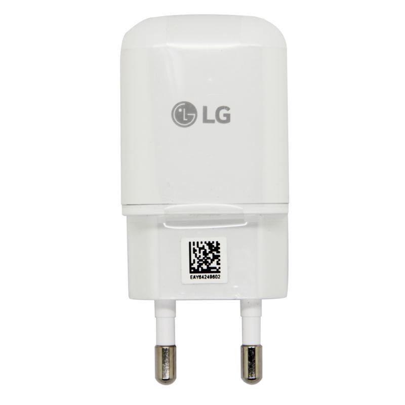 Зарядний пристрій LG Travel Adapter, White, 1xUSB, 9V / 1.8 A (MCS-H05ED), зарядка для телефону лш