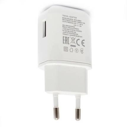 Зарядний пристрій LG Travel Adapter, White, 1xUSB, 9V / 1.8 A (MCS-H05ED), зарядка для телефону лш, фото 2