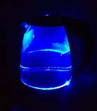 Стеклянный электрический чайник Domotec DT-706 с LED подсветкой, фото 2