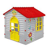 Детский домик MOCHTOYS игровой серый  (игровой домик для улицы и дома)