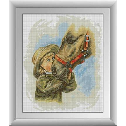 30720 Набор алмазной мозаики Мальчик с лошадью, фото 2