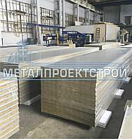 Сэндвич панель стеновая от 50мм базальтовая, минеральная, негорючая вата, фото 1