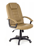Офісне крісло комп'ютерне EKO 7410 Еко шкіра Механізм TILT Бежеве, фото 1