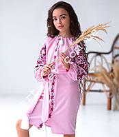 Вишита сукня для дівчинки домоткане полотно