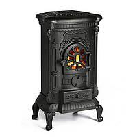 Печь Камин Буржуйка Чугунная Bonro GRIDIN Black 8кВт