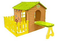 Великий дитячий садовий будиночок Mochtoys + столик з терасой (ігровий будиночок для вулиці і вдома), фото 1