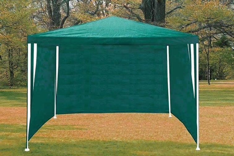 Садовый павильон шатер 3х3 с тремя стенками