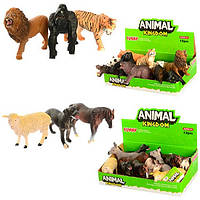 Животные домашние и дикие 9 см и 12 см в дисплее
