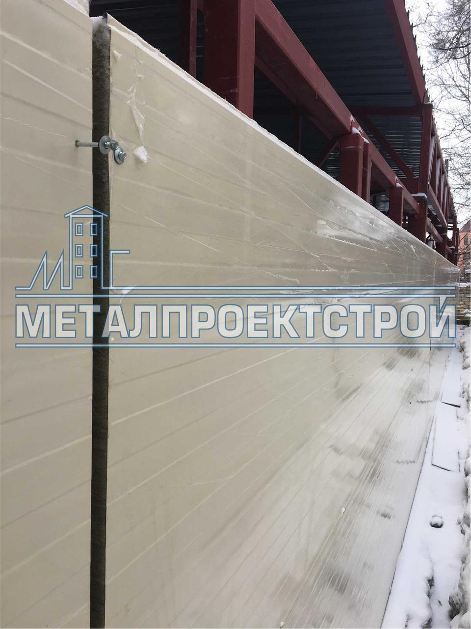 Сэндвич-панель стеновая от 50мм базальтовая, минеральная, негорючая вата