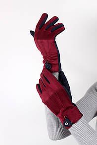 Перчатки FAMO Женские перчатки замшевые сенсорные Джулия марсаловые One size (PER1827)