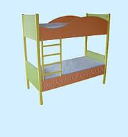 Кровать детская 2-ярусная на металлокаркасе