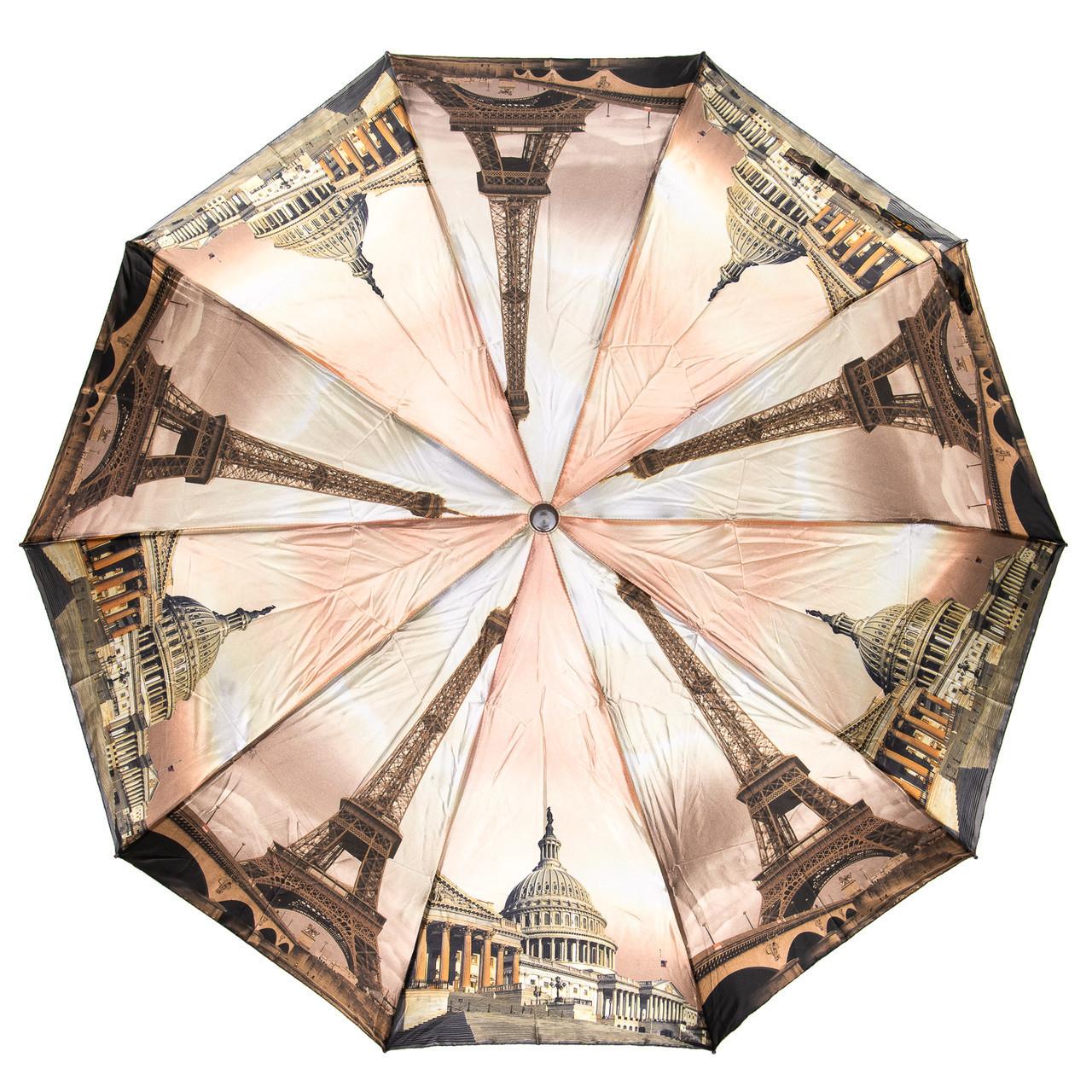 Зонт женский полуавтомат Города разные цвета