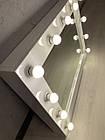 Гримерні дзеркало, дзеркало для візажиста, дзеркало з лампами, фото 7