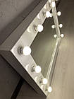 Гримерное зеркало, зеркало для визажиста, зеркало с лампами, фото 7