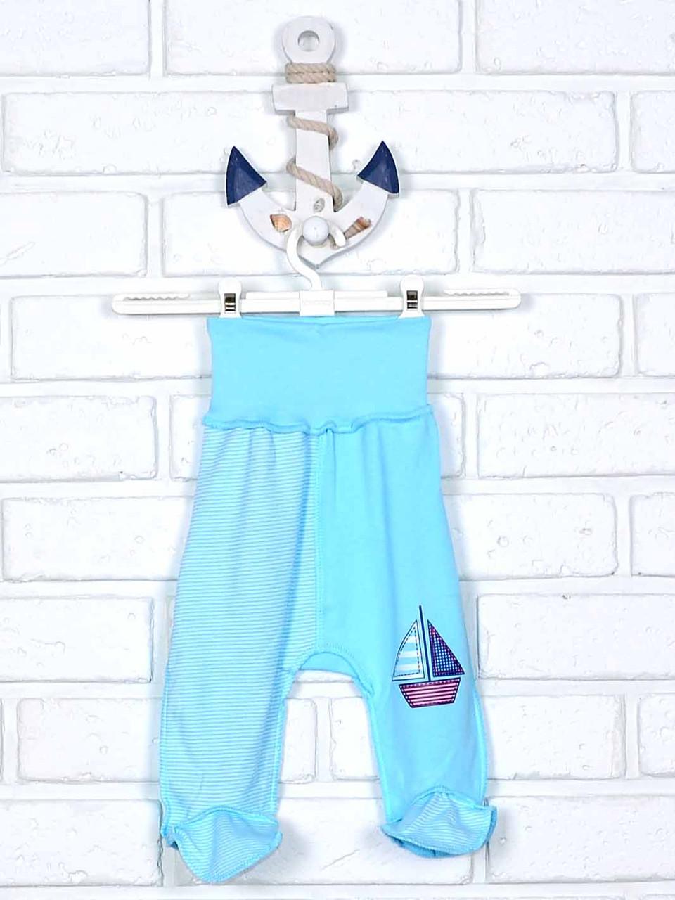 Повзунки для немовляти блакитні з аплікацією 62