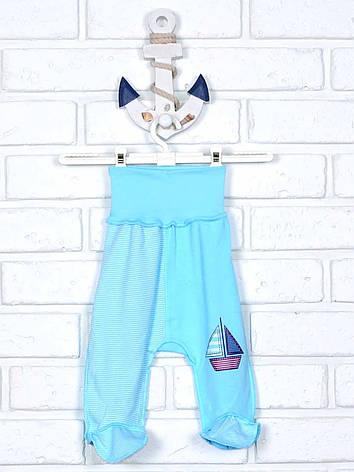 Повзунки для немовляти блакитні з аплікацією 62, фото 2