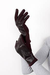 Перчатки FAMO Женские перчатки сенсорные Брук бордовые One size (PER1813)