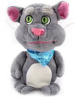 Плюшевый кот Том повторюшка интерактивный Kronos Toys Серый (tps_205-1911076)