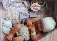 Berenguer, кукла младенец 36 см, с комплектом одежды фиолетового цвета