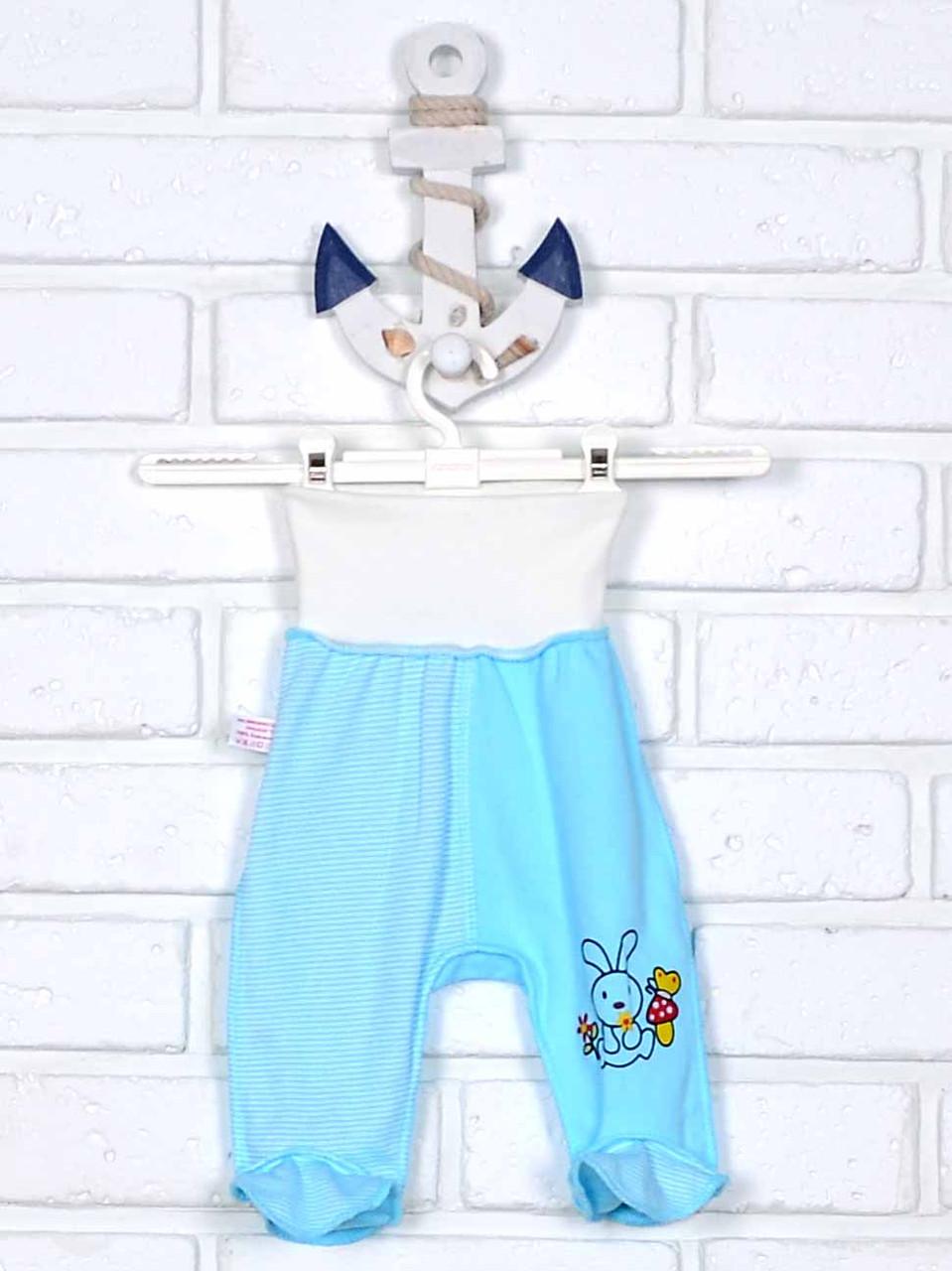 Ползунки для новорожденного бело-голубые 56