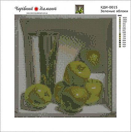 КДИ-0015 Набор алмазной вышивки Зеленые яблоки. Художник Denise Mickilowski, фото 2
