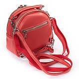 Рюкзак женский кожаный в красном цвете 3383, фото 2