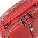 Рюкзак женский кожаный в красном цвете 3383, фото 3