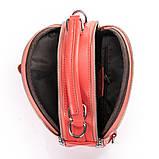 Рюкзак женский кожаный в красном цвете 3383, фото 4