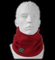 Шарф Бафф (Снуд) мужской вязаный Wookie красный, Oxygon Россия