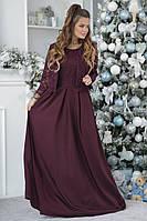 Шикарное длинное вечернее платье макси с красивым кружевным болеро р.42-46-. Арт-4315/7, фото 1