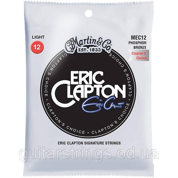 Струны Martin MEC12 Eric Clapton Phosphor Bronze Light 12-54