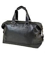 Дорожная сумка из искусственной кожи dr. Bond 8710 black на 2 отделения