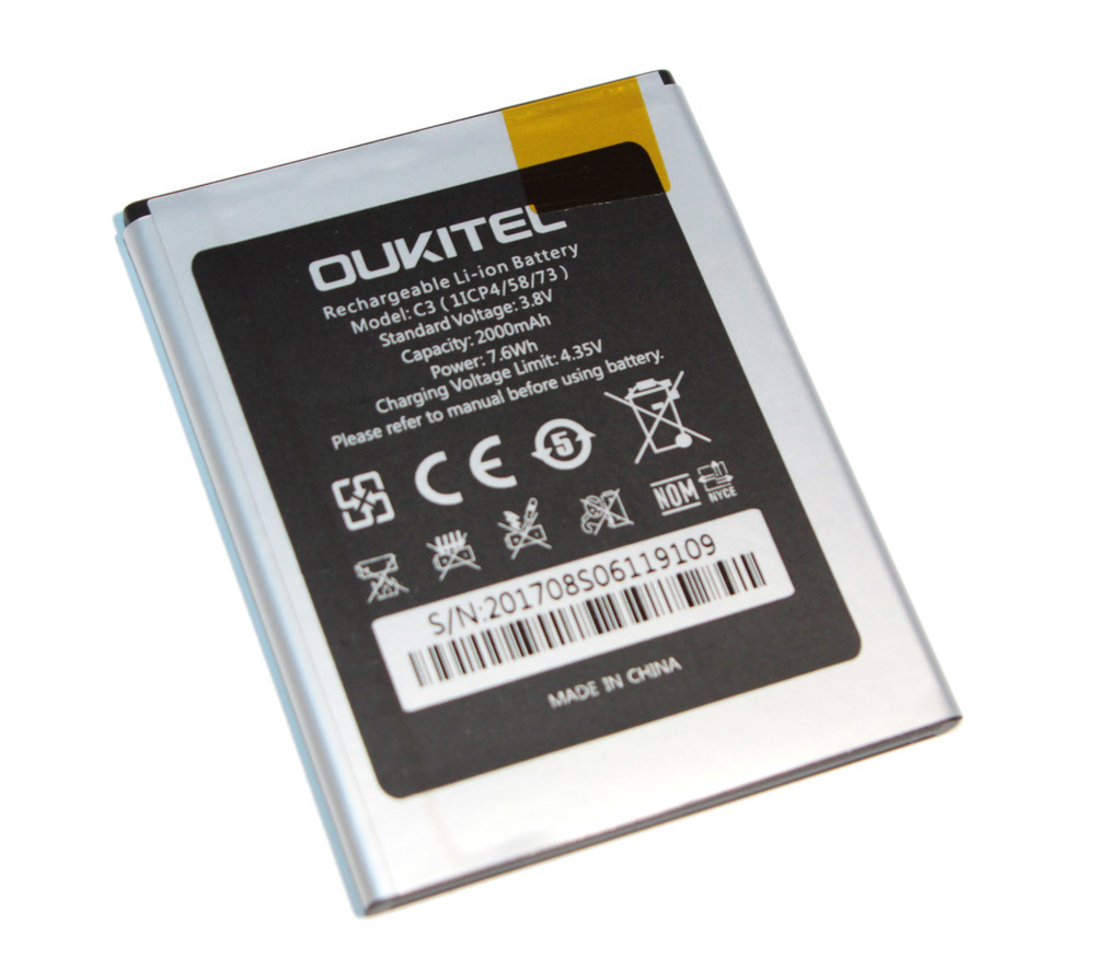 Аккумулятор Oukitel C3, Origin, (2000 mah) батарея Оукител С3