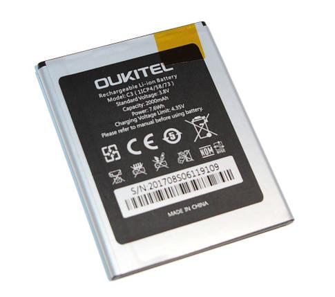 Аккумулятор Oukitel C3, Origin, (2000 mah) батарея Оукител С3, фото 2