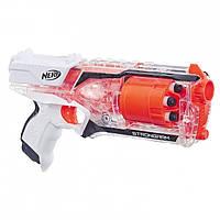 Оригинальный детский бластер Нерф Элит Стронгарм прозрачный Strongarm Nerf N-Strike Elite Toy Blaster E5753 По
