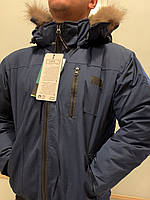 Темно-Синий  короткий мужской зимний пуховик canada goose chilliwack bomber Канада Гус