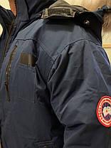 Темно-Синий  короткий мужской зимний пуховик canada goose chilliwack bomber Канада Гус, фото 2