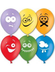 Латексный воздушный шар Эмоции c гелием 30 см