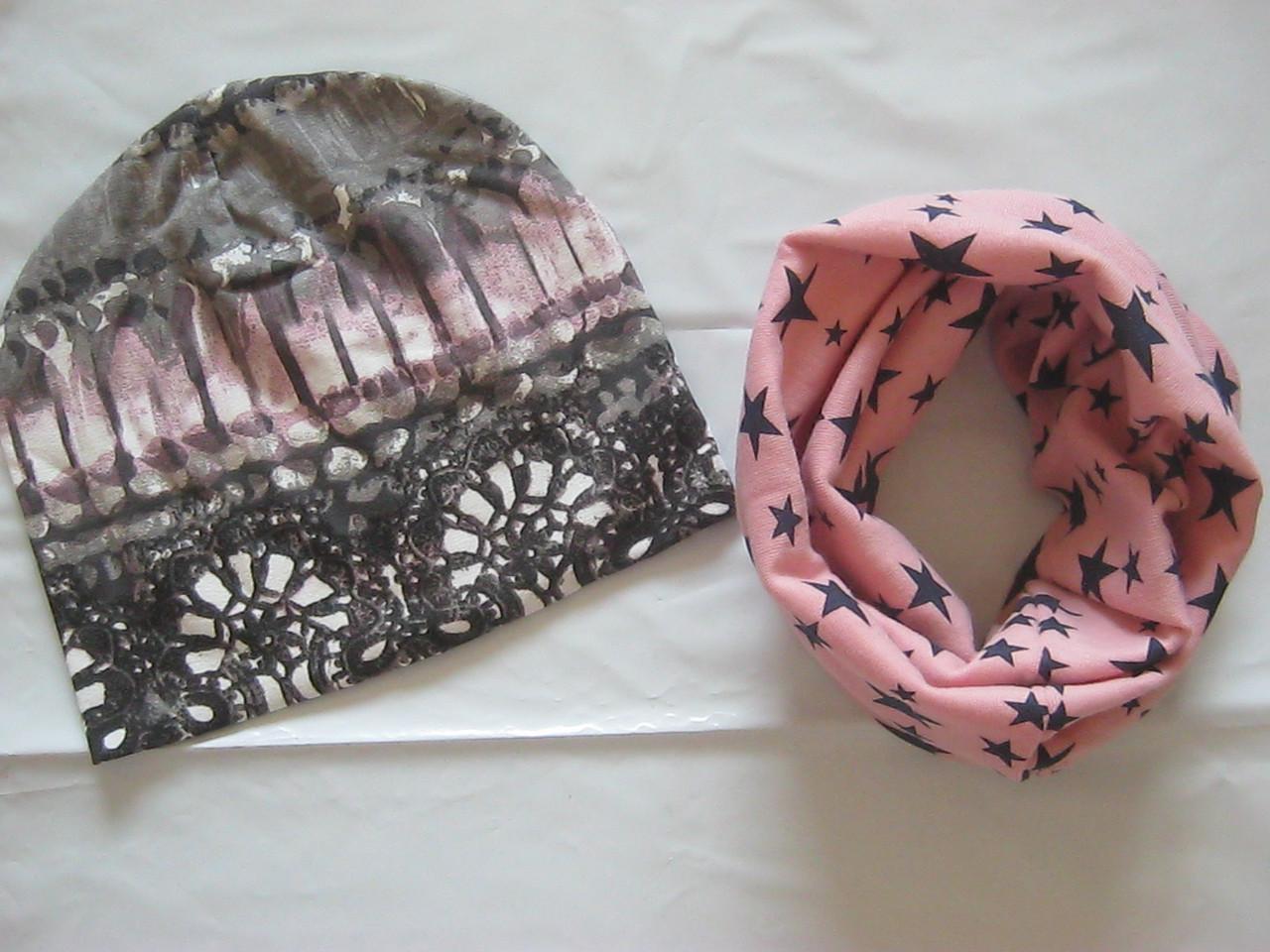 Наборчик для мальчиков и девочек шапка+хомут