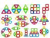 🔝 Детский магнитный конструктор Magical Magnet на 48 деталей, Разноцветный, с доставкой по Украине     🎁%🚚 - Фото
